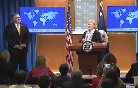 Screen capture, launch of the Commission on Unalienable Rights